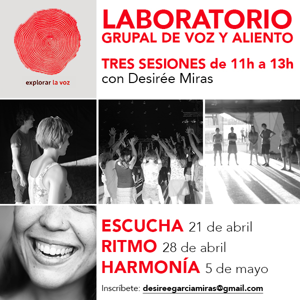 Taller de voz y canto en Barcelona abril mayo 2018